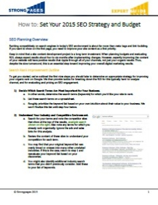 IMG Set SEO Strategy and Digital Budget